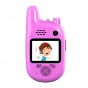 Детский цифровой фотоаппарат Walkie Talkie HD камера с рацией (Розовый)