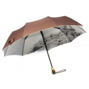 Зонт женский полуавтомат Diniya 168-11 (Коричневый)