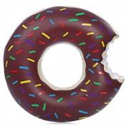 Надувной круг Пончик 120 см (Коричневый)