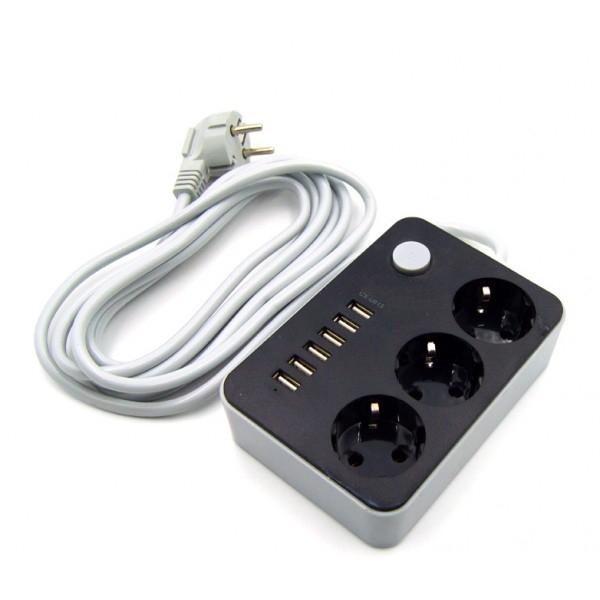 Фильтр сетевой CX-U613 (Белый)