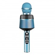 Беспроводной караоке микрофон Q008 (Синий)