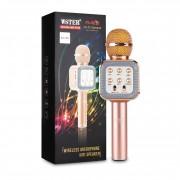 Беспроводной караоке микрофон Wster WS-1818 (Розовый)