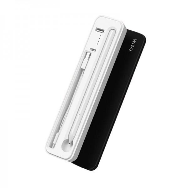 Стилус для Apple iPad WiWU 2 в 1 Stylus Pen + Charging Case (Белый)