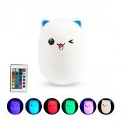 Детский светильник-ночник Мишка (Бело-голубой)