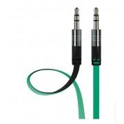 Аудио кабель Interstep AUX BW 3.5мм jack - 3,5мм jack 2 м (Изумрудно-черный)