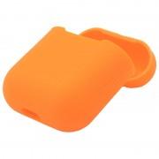 Силиконовый чехол Interstep для наушников AirPods (оранжевый)