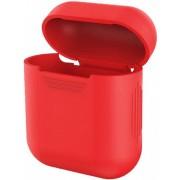 Силиконовый чехол Interstep для наушников AirPods (красный)