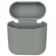 Силиконовый чехол Interstep для наушников AirPods (серый)