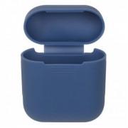 Силиконовый чехол Interstep для наушников AirPods (темно-синий)