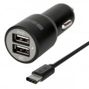 Автомобильное зарядное устройство Interstep RT: 2USB+USB Type-C 2А+2А +Quick Charge 5/9/12V