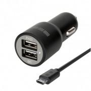 Автомобильное зарядное устройство Interstep RT: 2USB+microUSB 2А+2А +Quick Charge 5/9/12V