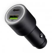 Автомобильное зарядное устройство Interstep RT, Type-C + QC, 42W (серый)