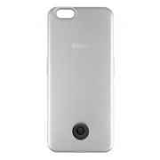 Чехол-аккумулятор Interstep 2200мАч для iPhone 5/SE (серебро)