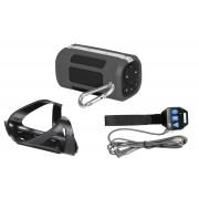 Портативная Bluetooth акустика Interstep SBS-120 Sport (серый) + велокрепление с пультом (черный)