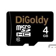 Карта памяти MicroSD 4GB DiGoldy Class 10 без адаптера