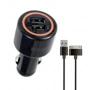 Автомобильное зарядное устройство Interstep Комбо: 2USB + каб Galaxy TAB ток 2А