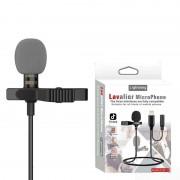Петличный микрофон Lavalier JH-041-A, Lightning+Jack 3.5 (Черный)