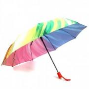 Зонт женский автоматический Pasio PS-107-3 (Красный-мультиколор)