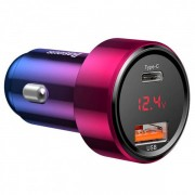 Автомобильное зарядное устройство Baseus Magic Series PPS digital display Intelligent dual quick charging and car charging of 45W CCMLC20C-09 (Красный)