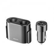 Автомобильное зарядное устройство Baseus High Efficiency One to Two Cigarette Lighter CRDYQ-01 (Черный)