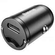 Автомобильное зарядное устройство Baseus Tiny Star Mini Quick Charge Car Charger USB Port 30W VCHX-A0G (Серый)