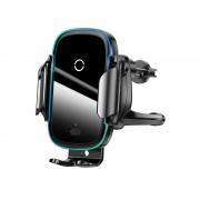 Автодержатель с беспроводной зарядкой Baseus Light Electric Holder Wireless Charger (15W) WXHW03-01 (Черный)