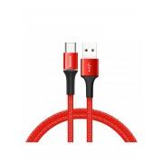Кабель Baseus halo data cable USB For Type-C 3A 1M CATGH-B09 (Красный)