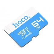 Карта памяти Hoco micro SDXC Card 64Gb Class10 (Голубой)
