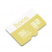 Карта памяти Hoco micro SDHC Card 32Gb Class10 (Желтый)