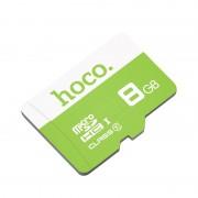 Карта памяти Hoco micro SDHC Card 8Gb Class10 (Зеленый)