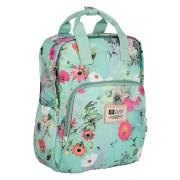 Рюкзак для мамы TaiDent Цветы с ручками (Серо-зеленый)