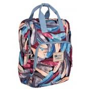 Рюкзак для мамы TaiDent Перья с ручками (Серо-голубой)
