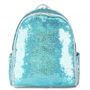 Рюкзак с пайетками меняющими цвет (Голубой)