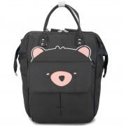 Подростковый рюкзак Мишка (Черный)