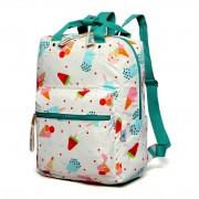 Рюкзак школьный с принтом Мороженое Sun eight SE-8256 (Белый-бирюзовый)