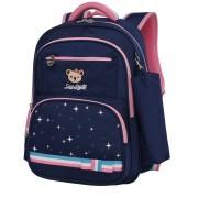 Рюкзак школьный в комплекте с пеналом Sun eight SE-2730 (Темно-синий-розовый)