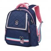 Рюкзак школьный в комплекте с пеналом Sun eight SE-2696 (Темно-синий-розовый)