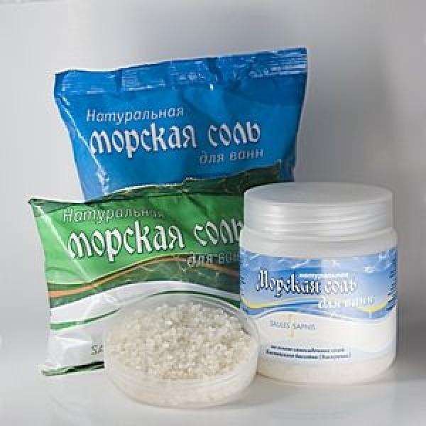 Соль морская для ванн Saules Sapnis с экстрактом шалфея (1 кг)