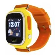 Умные детские часы с телефоном и GPS трекером Smart Watch Q80 (Желтые)