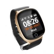 Умные часы с телефоном и GPS трекером Smart Watch D100 (Золотые)