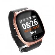 Умные часы с телефоном и GPS трекером Smart Watch D100 (Розовое золото)