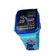 Умные детские часы с телефоном и GPS трекером Smart Watch V16 (Голубой)