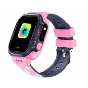Умные детские часы с телефоном и GPS трекером Smart Watch Y92 (Розовый)