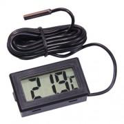 Цифровой термометр Kronos TPM-10 (-50 до +110 С) с выносным датчиком, 1 м (Черный)