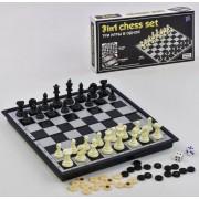 Магнитные шашки шахматы нарды 9518, три игры в одной