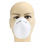 Защитная маска респиратор для лица одноразовый (Белая)