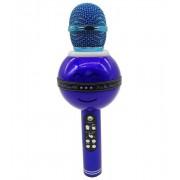 Беспроводной караоке-микрофон с колонкой WS-878 (Синий)