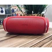 Колонка J009 беспроводная Bluetooth/USB/MicroSD/c функцией Power Bank/Soft touch (Красный)