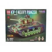 Конструктор Quan Guan Heavy panzer 100070 КВ-1 Тяжелый Танк 768 деталей