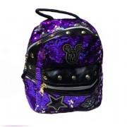 Рюкзак Микки с двусторонними пайетками и заклепками (Фиолетовый)
